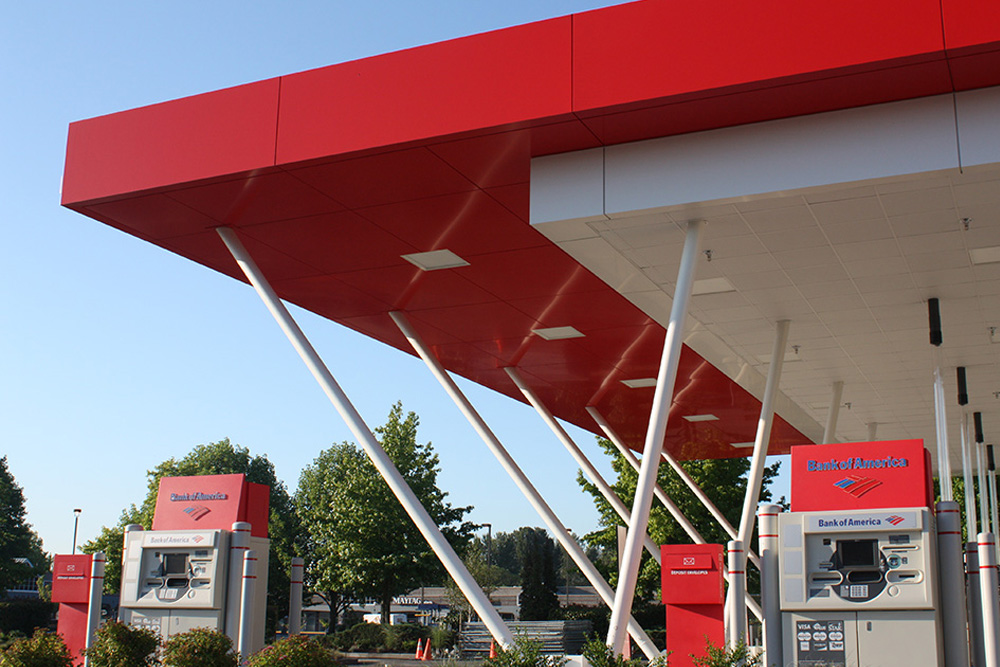 BOA Tukwila WA - Example of Corporate Canopies